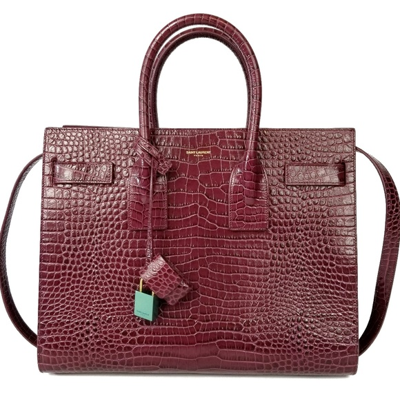7f663174d35 Saint Laurent Bags | Paris Baby Sac De Jour Red Crocodile | Poshmark
